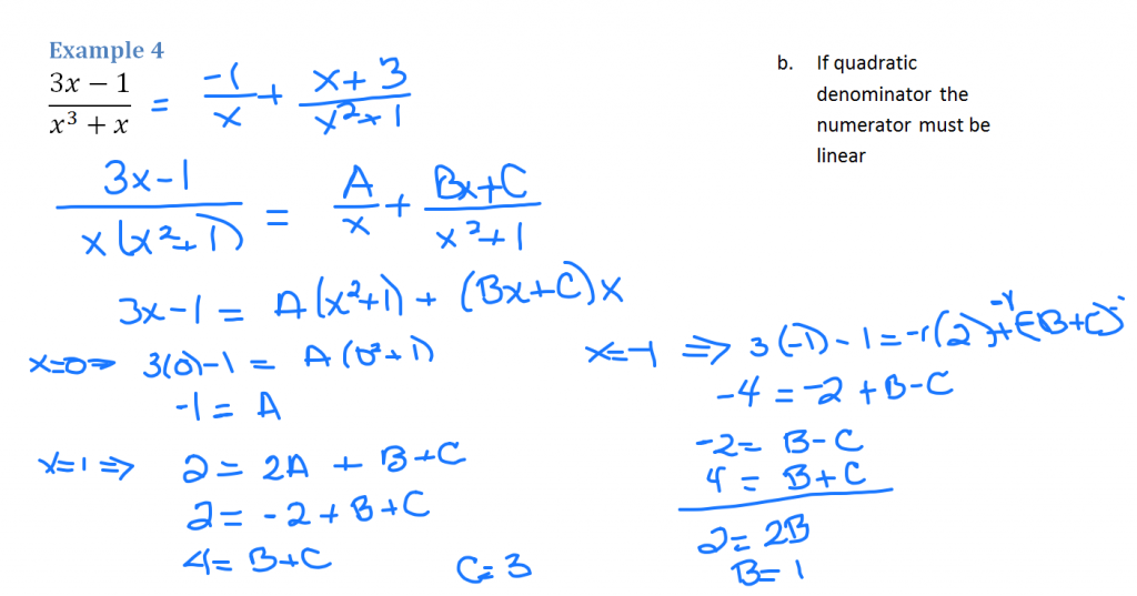 Partial Fractions Example 4