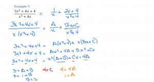 Partial Fractions Example 5