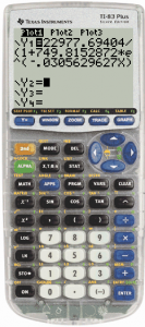 Ebola Logistics Equation in y=