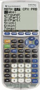 TI84+ math number abs