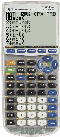 TI84+ math number abs