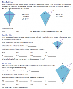 Similar Kites Worksheet
