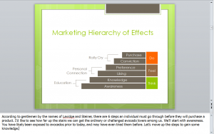 Marketing Hierarchy of Effects Slide with Notes