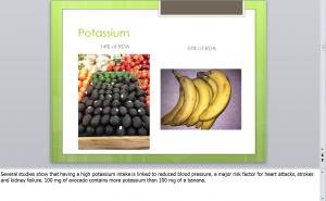 Potassium in Avocados
