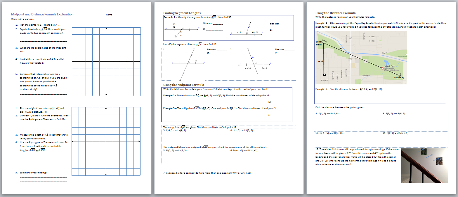 Worksheets Activity Worksheet Distance And Midpoint Exploration Answers 13 midpoints and distance formula multiply 3 digit by 2 midpoint formulas systry exploration formulas
