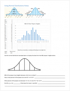 Using Normal Distributions Notes