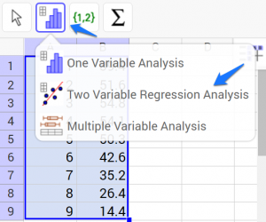 geogebra-two-variable-regression-analysis