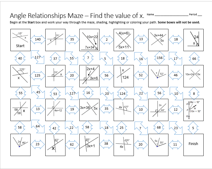 angle-relationships-maze