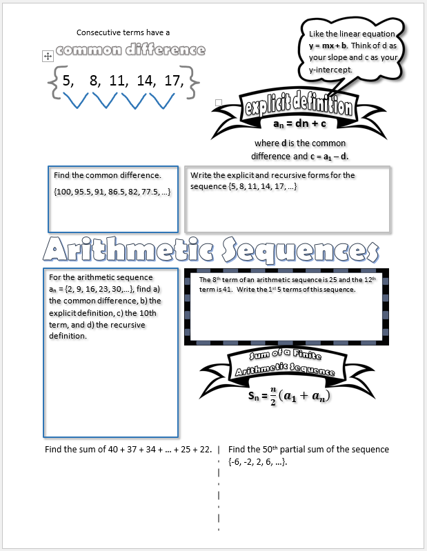 arithmetic-sequence-doodle-notes